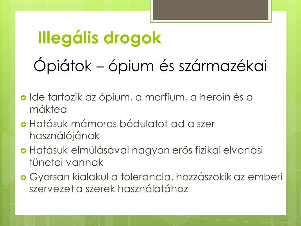 A drog használatakor fellépő tünetek, ismertető jegyek