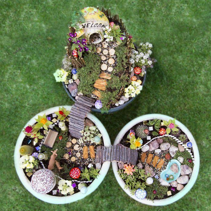 tündér virágos kert