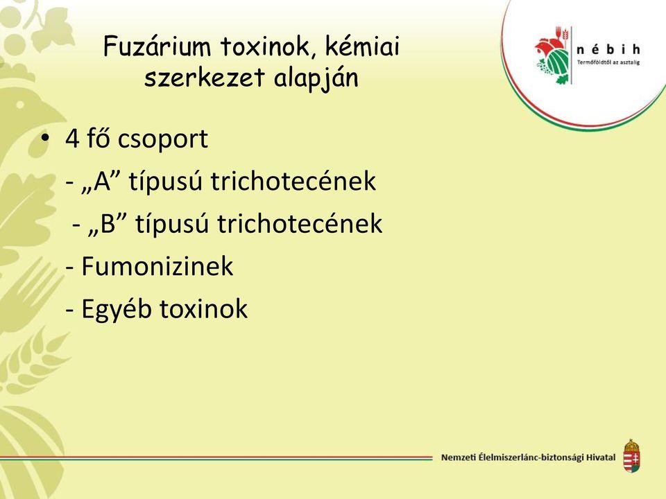 fuzárium toxinok