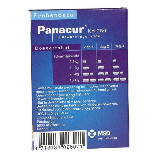 giardia panacur dosering