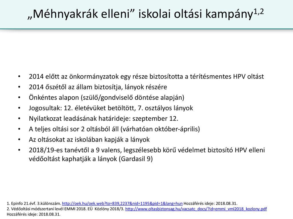 A HPV vírus és a védőoltás | Baár–Madas Református Gimnázium, Általános Iskola és Diákotthon