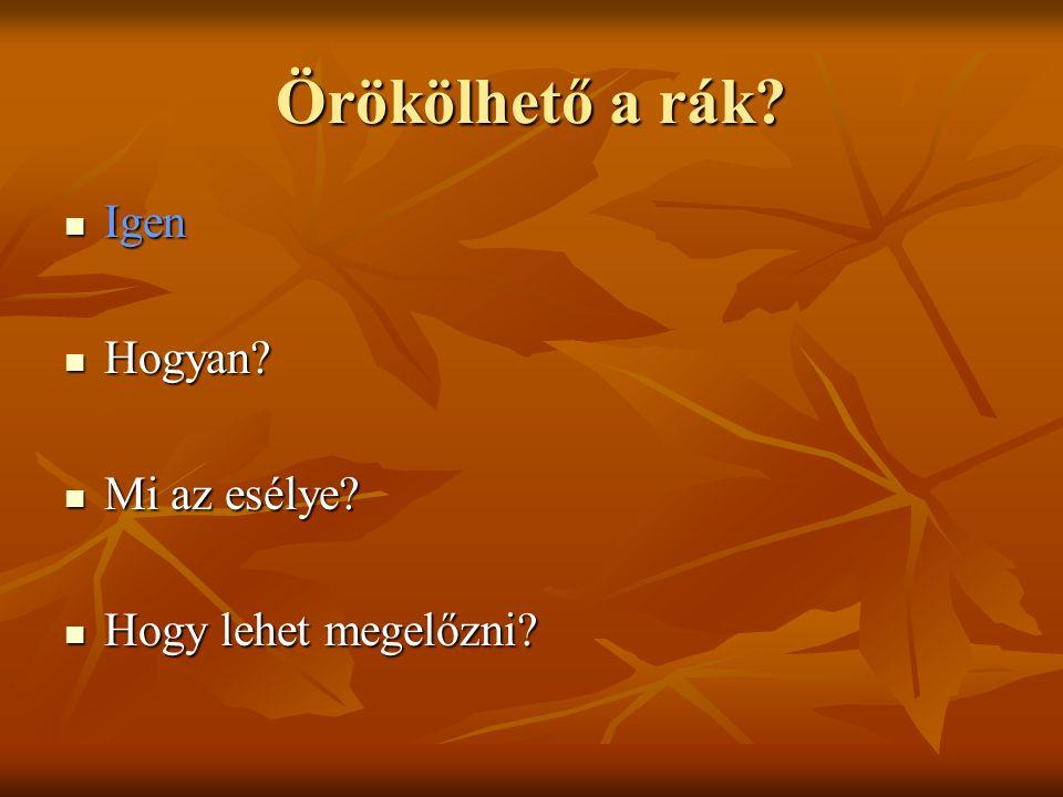 oropharyngealis rák kialakulása)