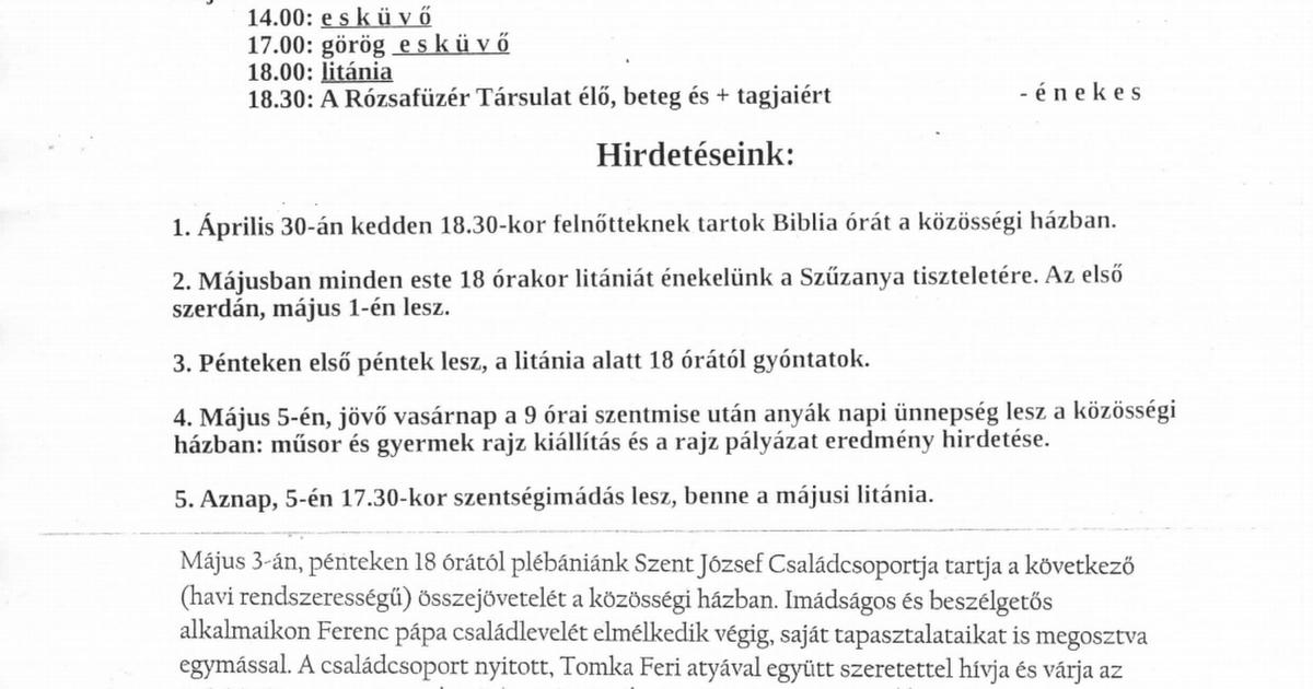 Fogadóóra - Benkő István Református Általános Iskola és Gimnázium